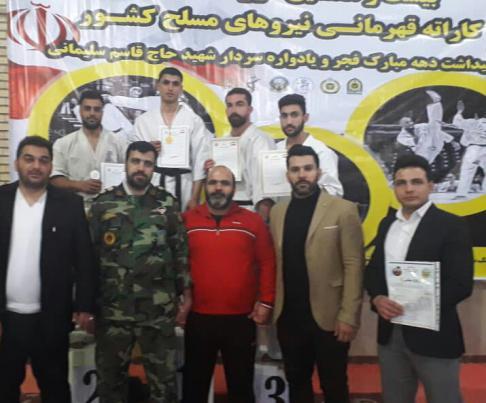 مدال طلای امیرحسین بهرامی در مسلبقات نیروهای مسلح